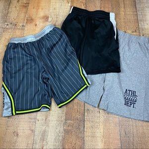 Boys Mixed Brand 3 Athletic Shorts Bundle Large